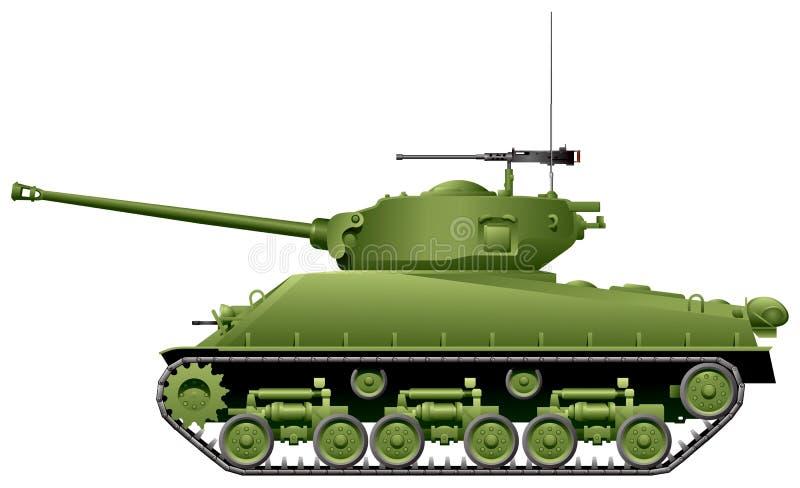 M4 Sherman Tank illustrazione di stock