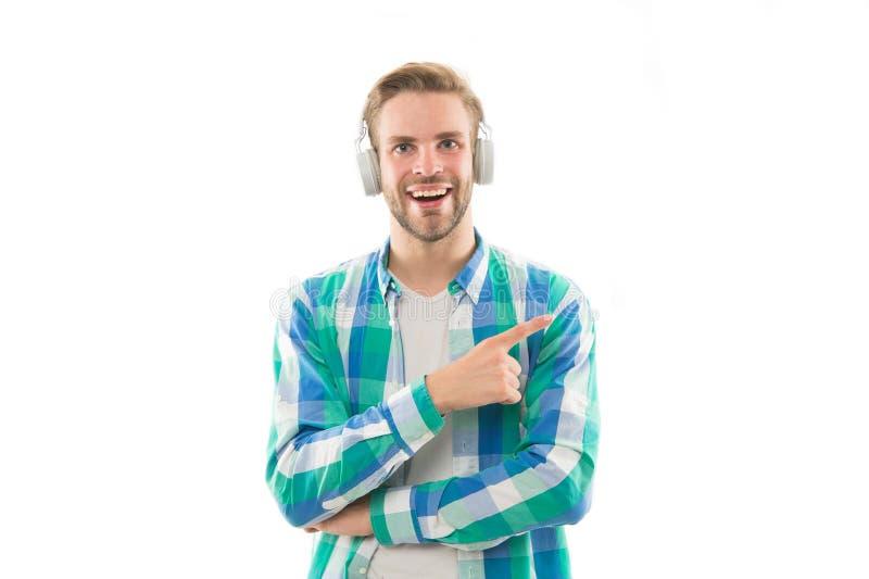 M?sica para o bom humor Faixa favorita Apreciando a m?sica Trilha audio Escuta a música a motivação e a inspiração moderno fotografia de stock