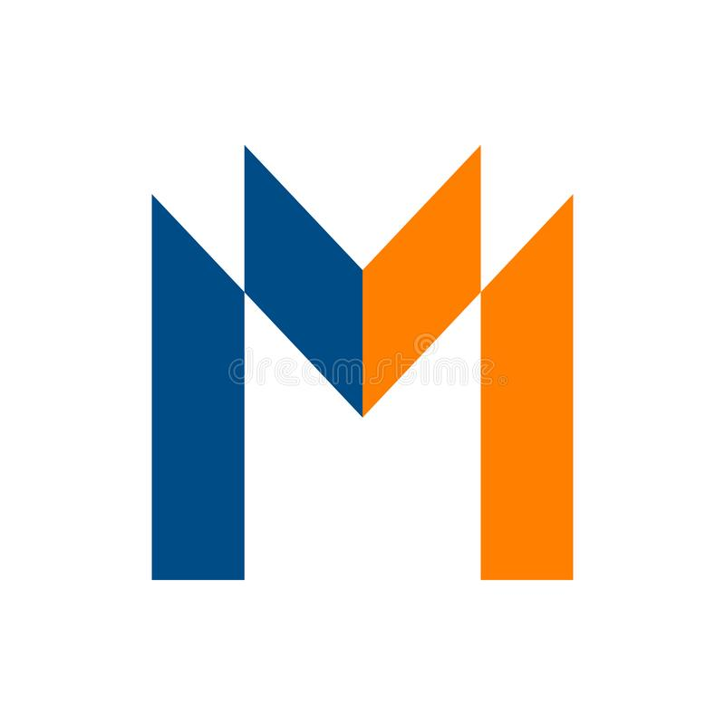 M simple Letter Business Abstract Logo Icon Symbol stock de ilustración