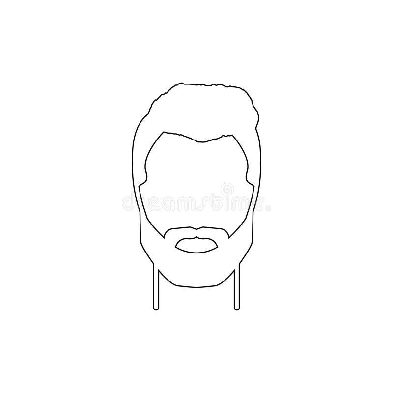 m?ska fryzury i brody ikona Element fryzur ikona Premii ilo?ci graficzny projekt Znaki, symbol inkasowa ikona dla royalty ilustracja