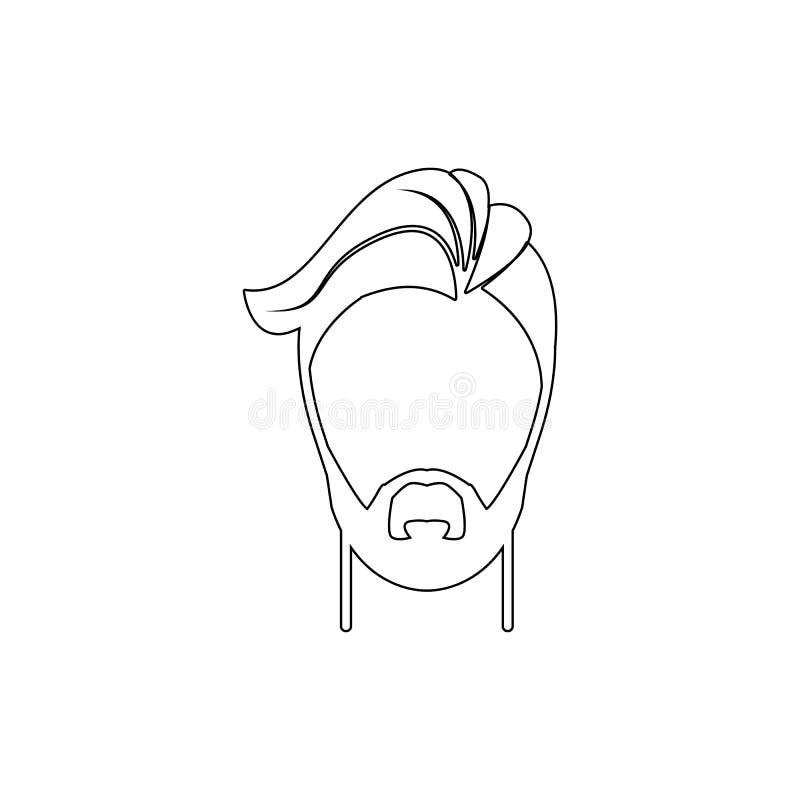 m?ska fryzury i brody ikona Element fryzur ikona Premii ilo?ci graficzny projekt Znaki, symbol inkasowa ikona dla ilustracja wektor