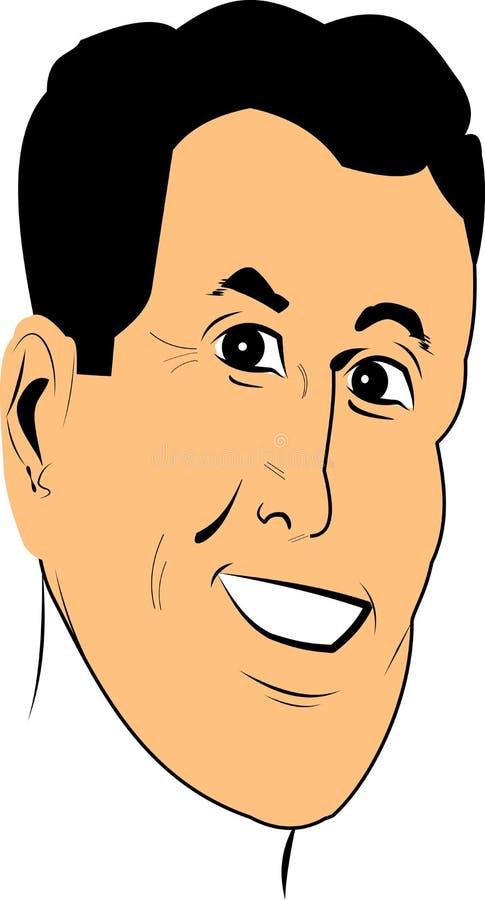 Download Męska twarz ilustracja wektor. Obraz złożonej z garbnikujący - 30458111