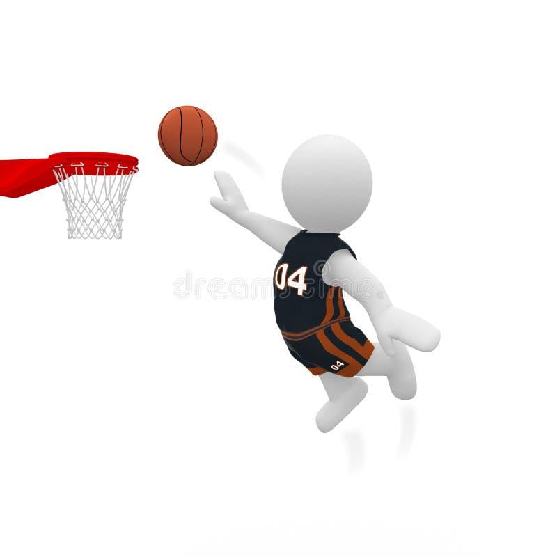 M. Smart Guy joue au basket-ball illustration libre de droits