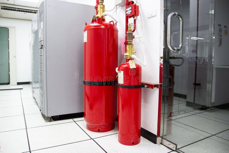 M-200 systemów stłumienie, FM200 gazu wylew system zdjęcie royalty free