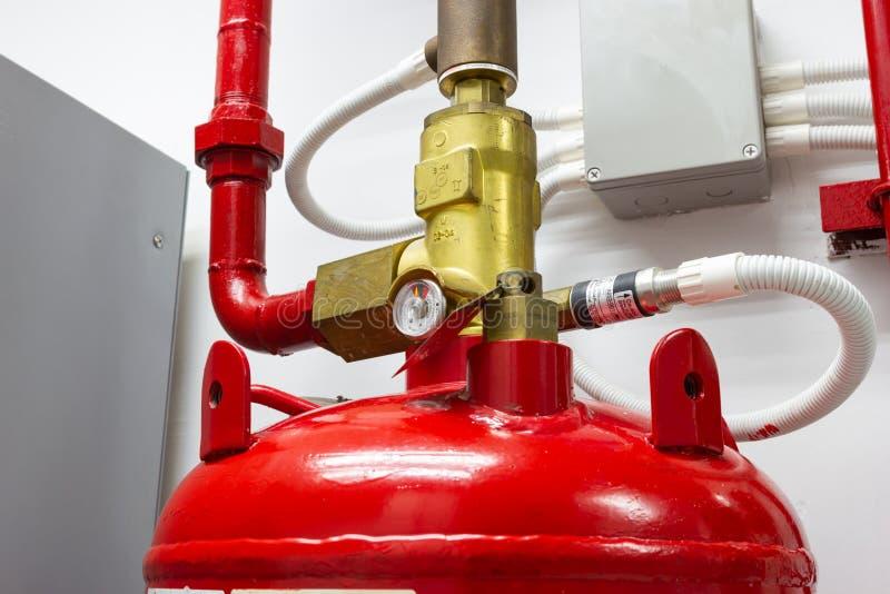 M-200 systemów stłumienie, FM200 gazu wylew system obraz royalty free