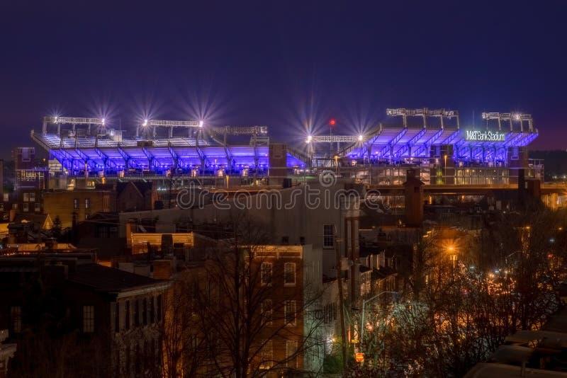 M&T Bank Stadium à Baltimore, le Maryland images libres de droits