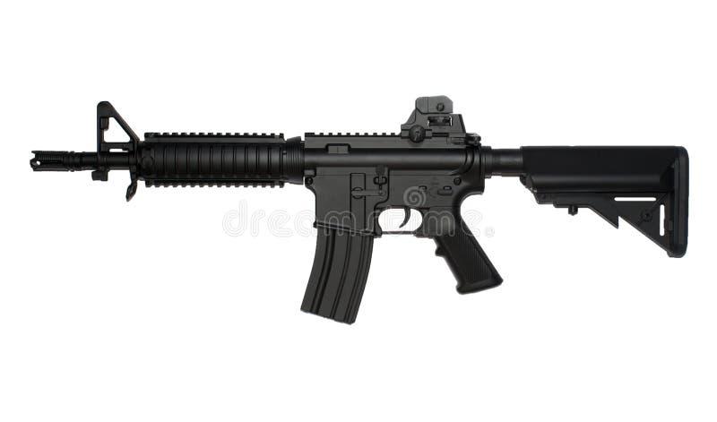 M4 tactisch de aanvalsgeweer van SOPMOD, airsoft replica royalty-vrije stock foto's