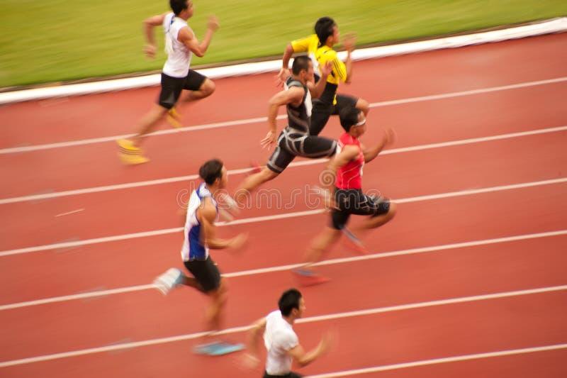 100m.in Thailand Open Atletisch Kampioenschap 2013. royalty-vrije stock afbeelding