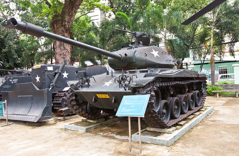 M41 USA tank. War Remnants Museum, Ho Chi Minh royalty free stock images