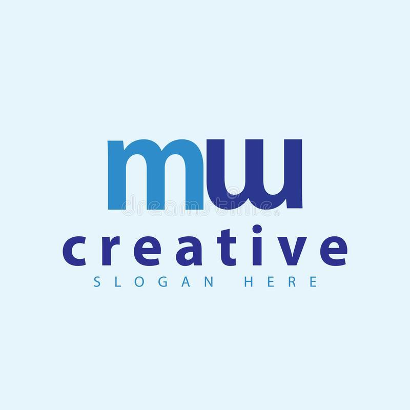 M w initial letter logo vector template royalty free illustration