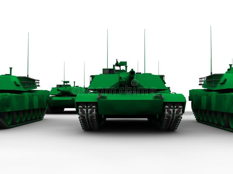 M1 Abrams Becken stock abbildung