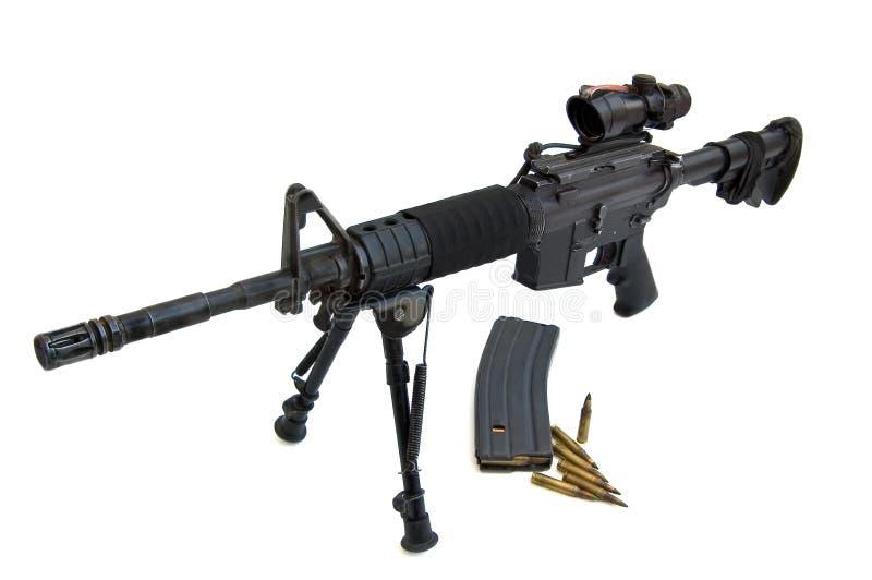 M16 - Potro M4 Flattop imagens de stock
