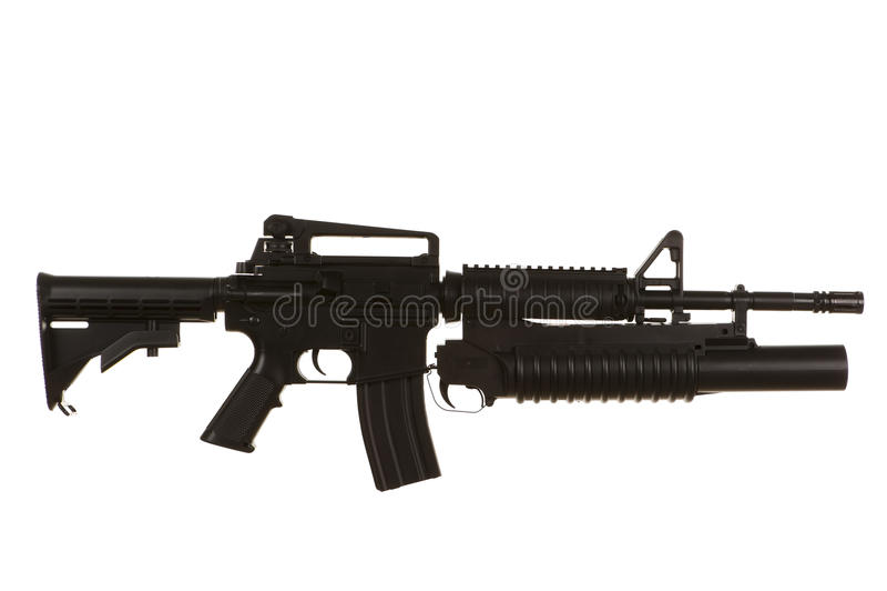 m4步枪 免版税库存图片
