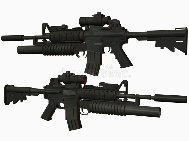 M4 Wapen stock illustratie