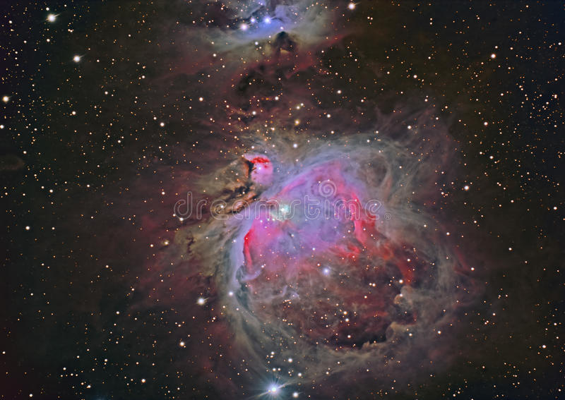 M42 Grote Nevel Orion royalty-vrije stock foto's