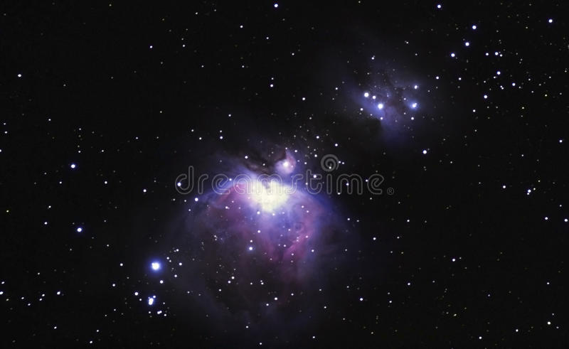M42, la nébuleuse d'Orion photographie stock libre de droits