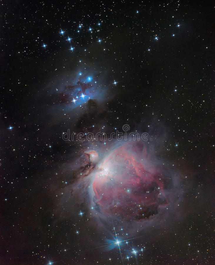M42, Nevel Orion royalty-vrije stock fotografie