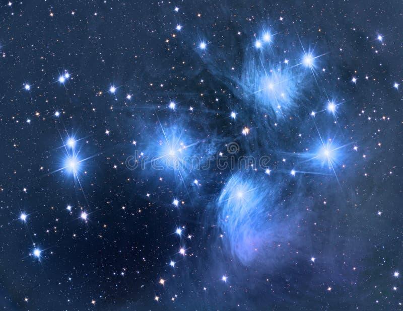 M45 Pleiades obrazy royalty free