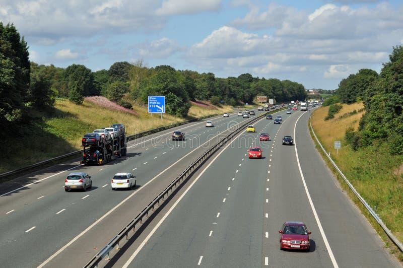 M61 autosnelweg stock afbeelding