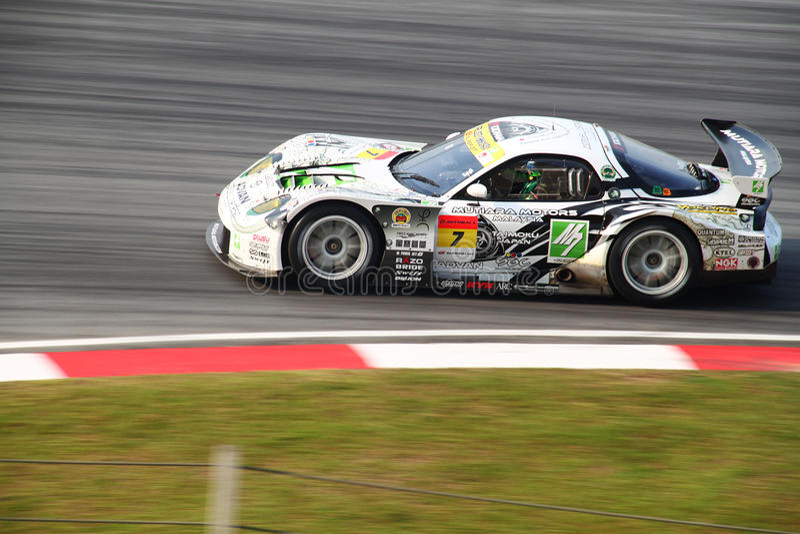M7 auto 7, SuperGT 2010 van Mazda royalty-vrije stock afbeeldingen