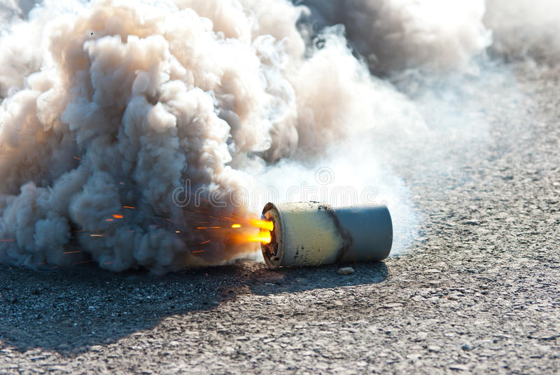 M8 HC Smoke Grenade Royalty Free Stock Photos