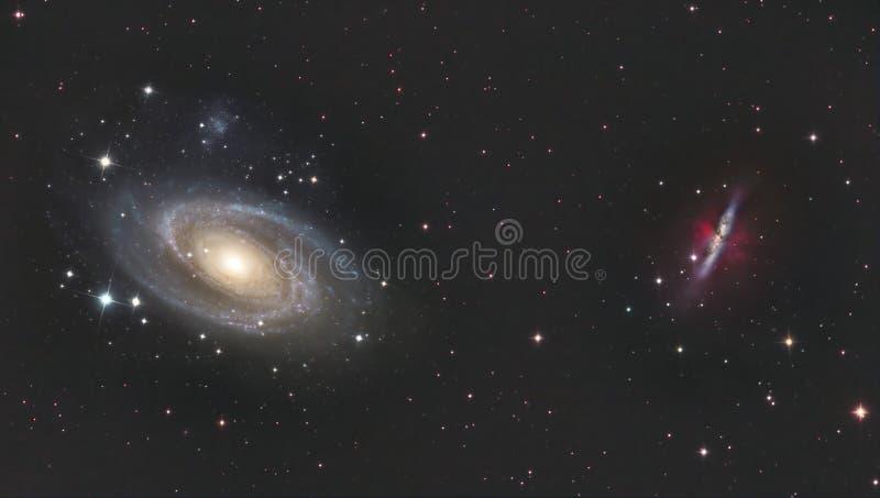 M81 en M82 stock fotografie