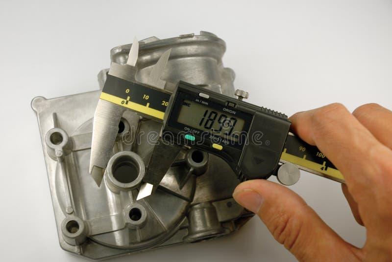 Download Maß stockbild. Bild von messen, teil, calliper, motor - 9099309