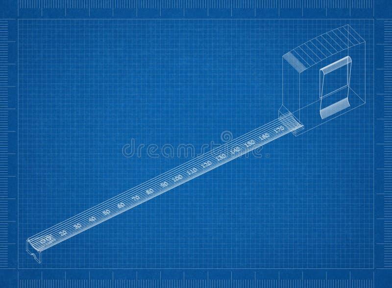 Maß-Bandplan stockfotos