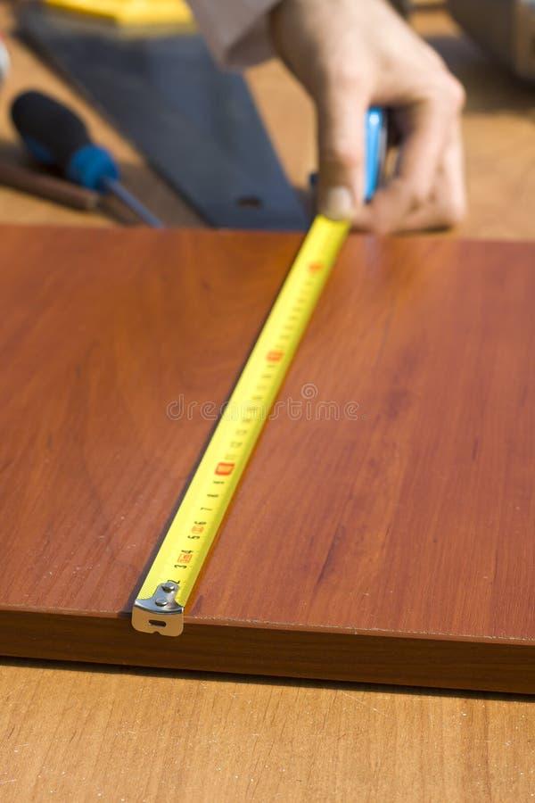 Maß des messenden Brettabstandes stockbild