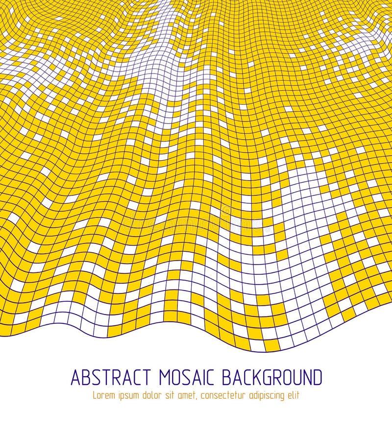 Maßvektorentwurf von quadratischen Fliesen des großen künstlerischen Mosaiks vektor abbildung