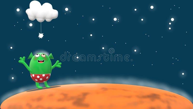 Mały Martian życie ilustracji
