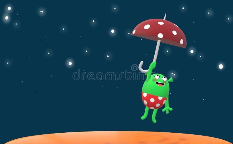 Mały Martian życie royalty ilustracja