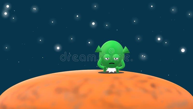 Mały Martian życie ilustracja wektor