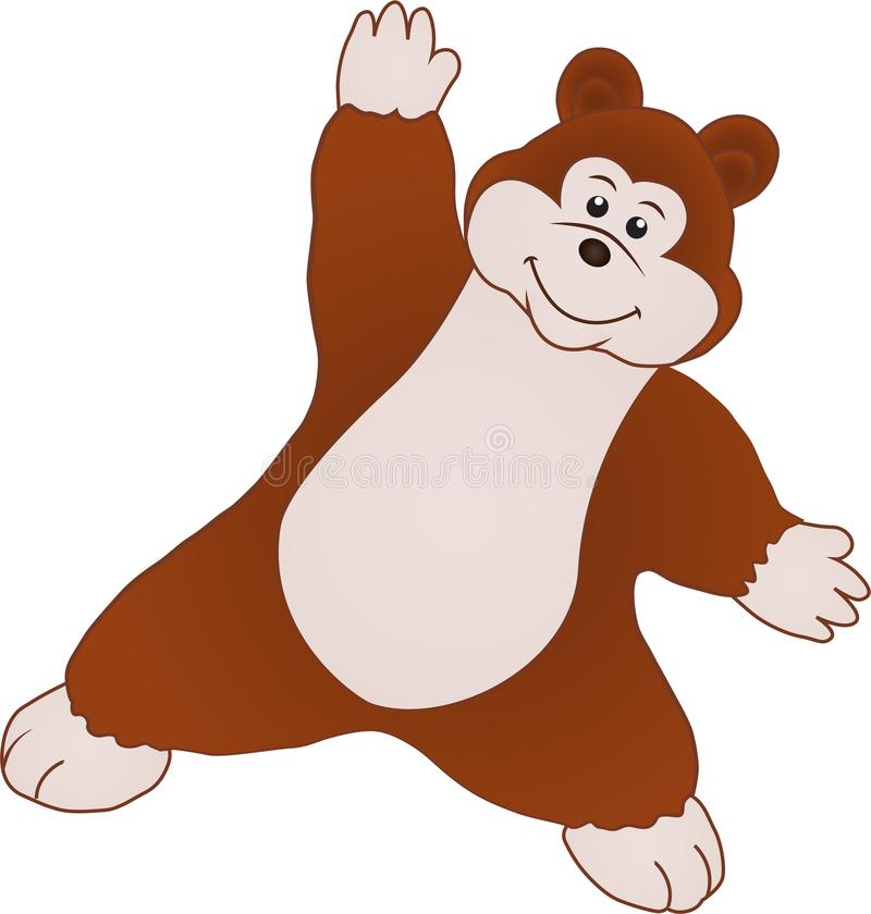 Mały niedźwiadkowy mówi cześć ilustracja wektor