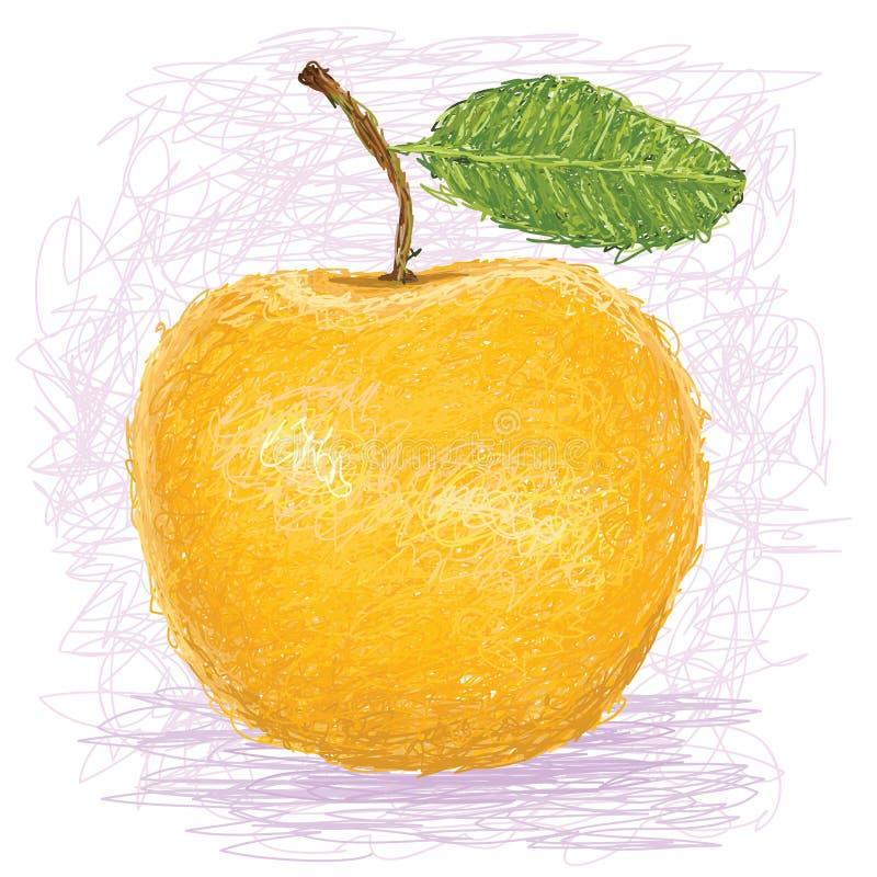Maçã amarela ilustração royalty free