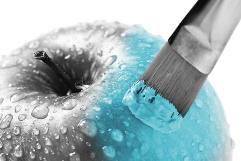 Maçã azul imagem de stock
