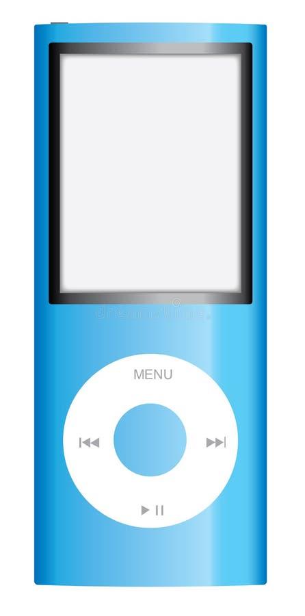 Maçã azul iPod Nano ilustração royalty free