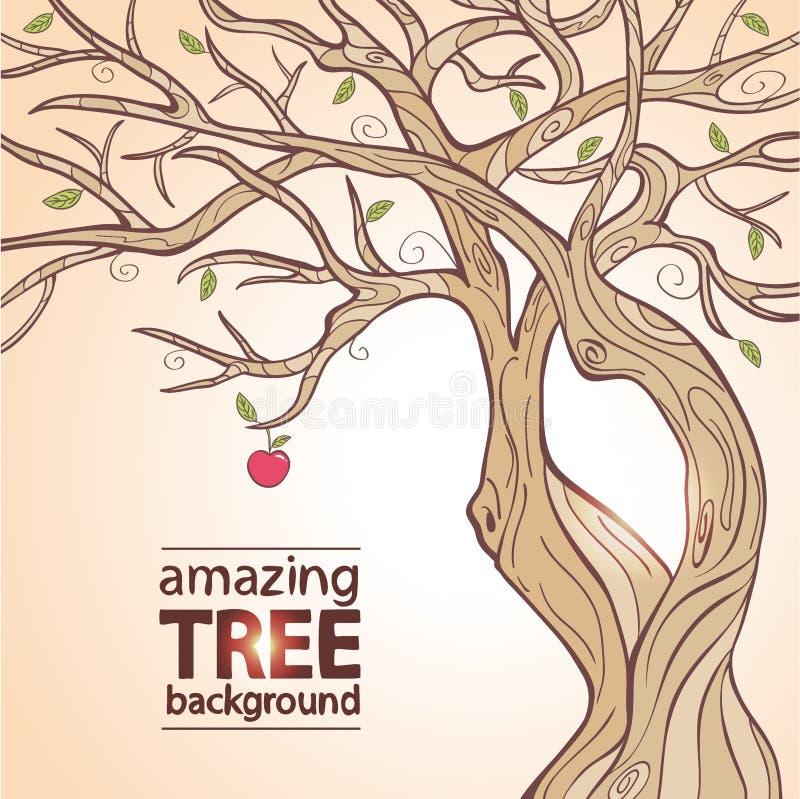 Maçã da árvore ilustração royalty free