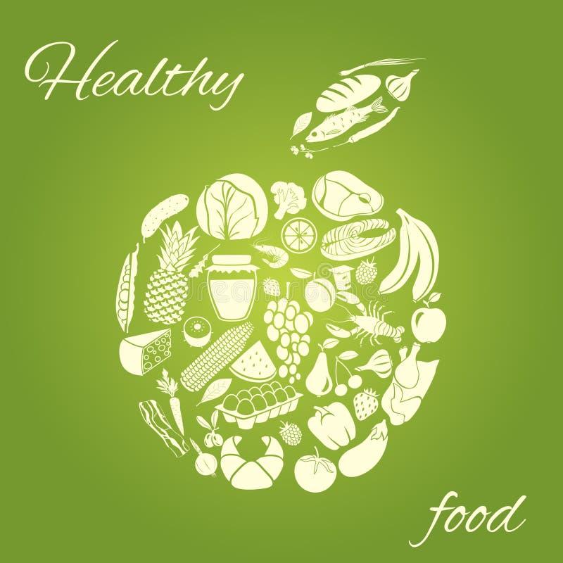 Maçã saudável do alimento ilustração do vetor