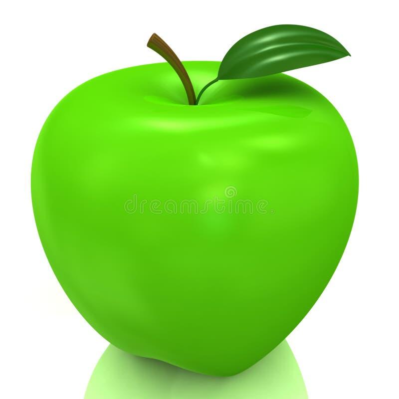 Maçã verde ilustração do vetor