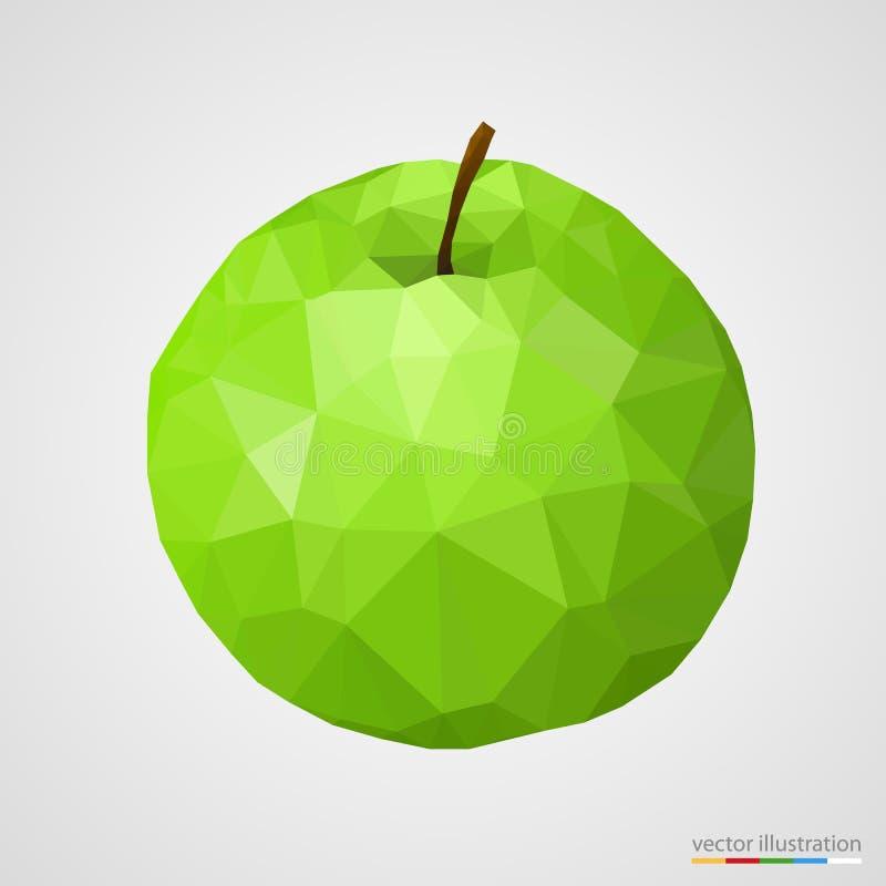 Maçã verde abstrata ilustração stock