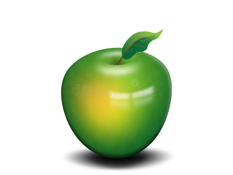 Maçã verde isolada ilustração royalty free