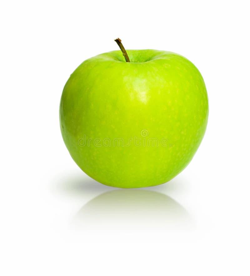 Maçã verde isolada no branco imagem de stock