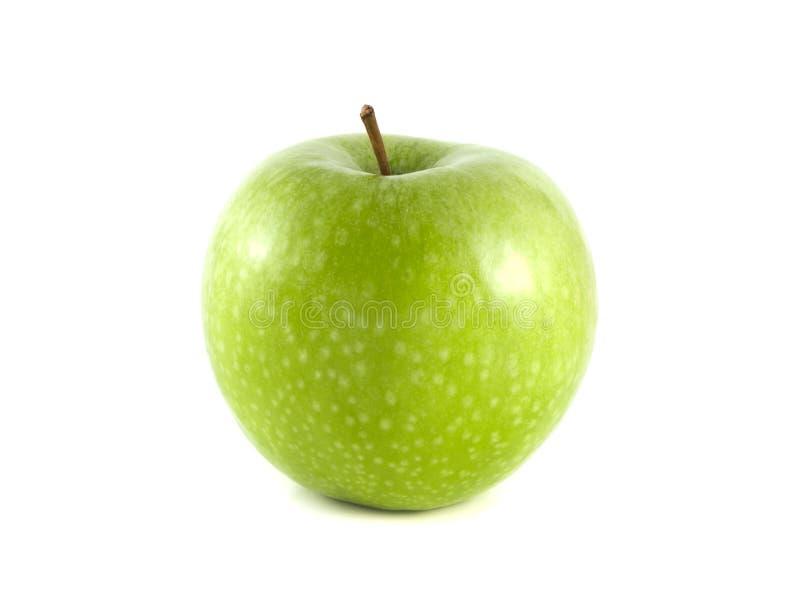 Maçã verde isolada no fundo branco imagem de stock royalty free