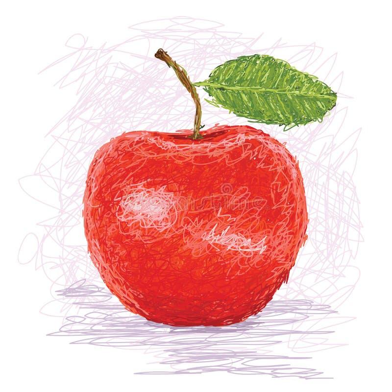 Maçã vermelha ilustração stock