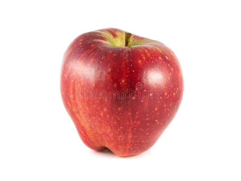 maçã vermelha em um fundo branco. fotografia de stock royalty free
