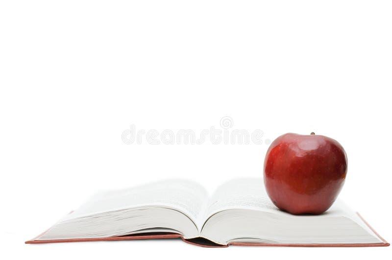 Download Maçã Vermelha No Livro Aberto Imagem de Stock - Imagem de haste, lido: 12801317
