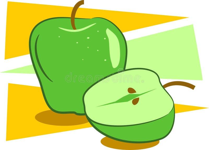 Download Maçãs ilustração do vetor. Ilustração de fruta, comer, verde - 50597