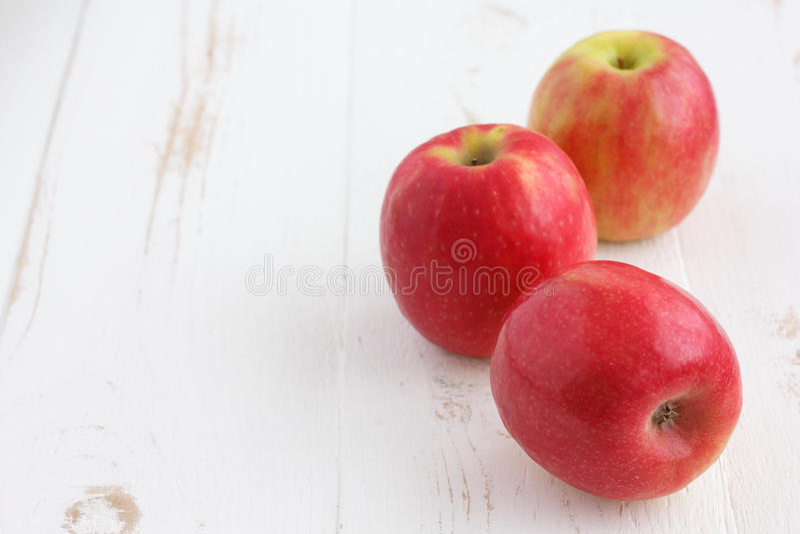 Maçãs da senhora cor-de-rosa fotografia de stock