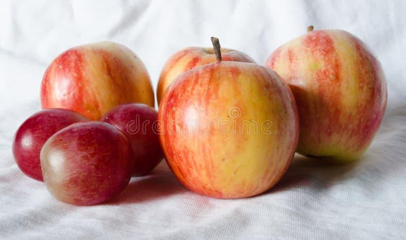 Maçãs do fruto fresco fotografia de stock royalty free